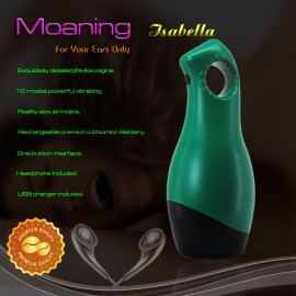 12 Funtion USB Rechargeable Vibrating Male Masturbator, Reality Interactive sexual moans, male electric masturbating machines