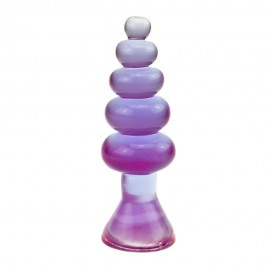 "5"" Jelly Tapered Butt Plug with Flexible TPE Spheres bead, Cheap Anal Toys of adult toys"