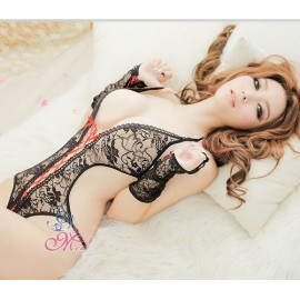 QZYX1884 sexy underwear open-crotch babydoll perspective garter lace set sexy temptation transparent sexy lingerie hot