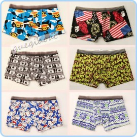 YW007 manstore 2014 hipster men underwear summer must-series pull in cartoon pattern penis pouch boxers