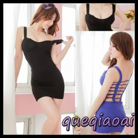 Z100-15 Fashion summer dress 2014 low-cut sexy underwear deep v-neck rein sexy costumes sexy lingerie