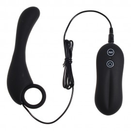 10 mode Vibrating Silicone Prostate Locator, Ergonomic Design with Pull-Ring, Experience ultimate anal pleasure with butt plug
