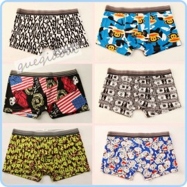 YW006 manstore 2014 fashion hipster undies transparent low waist Doraemon cartoon underwear boxers shorts men