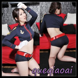 Z068-15 New 2014 Fashion sexy costumes fantasia women stand collar sailor uniform cosplay sexy lingerie