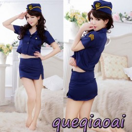 Z085-15 Fashion fantasia lapel sexy underwear+package hip sexy skirt clothing set army sailor sexy costume sexy lingerie