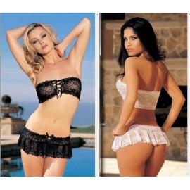 2014 New Women Sexy Underwear Nightwear 2 Colors Lace Satin Erotic Costume Sleepwear Nightie Negligee
