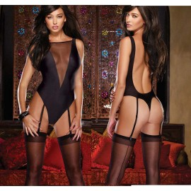 20% Off Hot Black Erotic lingerie sexy lingerie sexy Teddy underwear suit nightclub essential seduction Free Shipping