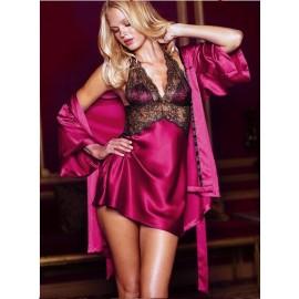 2 Pieces Dressing Gowns For Women Silk Robe Longue Satin Robes Bathrobe Women Kimono Pajamas 4 Colors